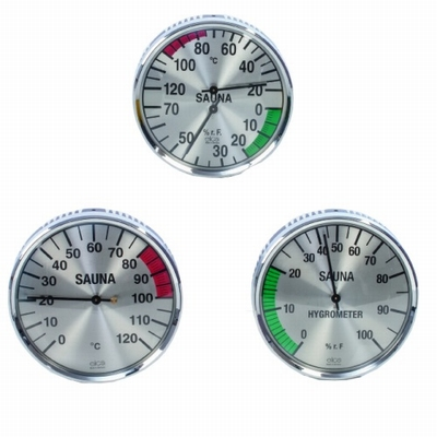 Thermo- Hygrometer Rond Metaal