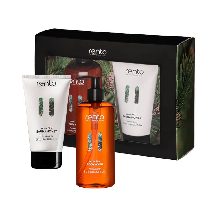 Rento Gift Set Body Wash & Sauna Honey Arctic Pine